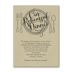 Dinner Classic - Bridal Shower Invitation
