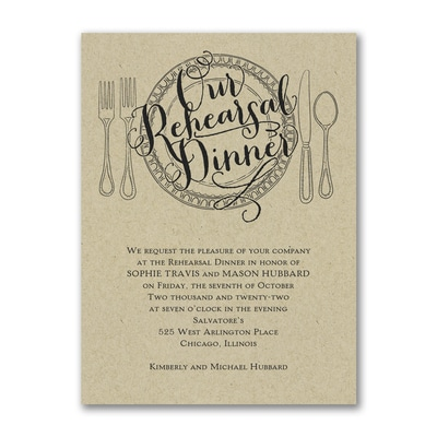 Dinner Classic - Invitation - Kraft