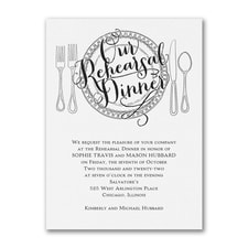 Dinner Classic - Invitation - White