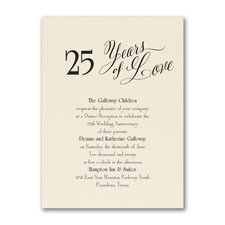 Anniversary Invitation: Years of Love