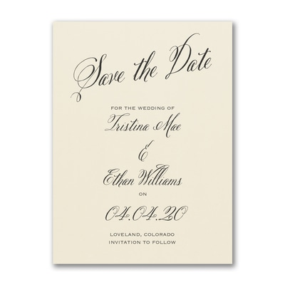 Delightful Date - Save the Date - Ecru