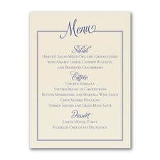 Chic Frame - Menu Card - Ecru