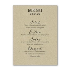Cuisine Type - Menu Card - Kraft
