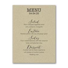 Cuisine Type - Menu Card - Kraft