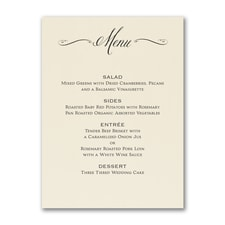 Savory Swirls - Menu Card - Ecru