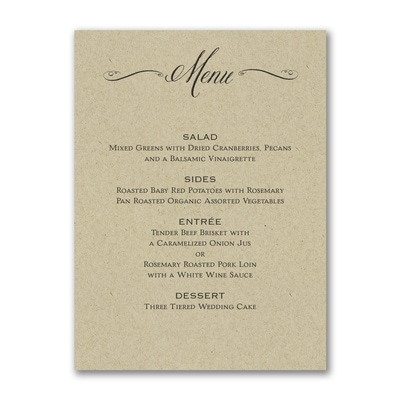 Savory Swirls - Menu Card - Kraft
