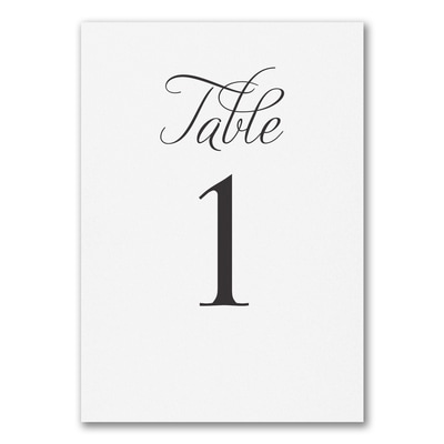Distinctive Impressions - Table Card Number 1 - 10