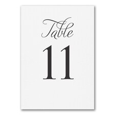 Distinctive Impressions - Table Card Number 11 - 20