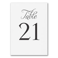 Distinctive Impressions - Table Card Number 21 - 30