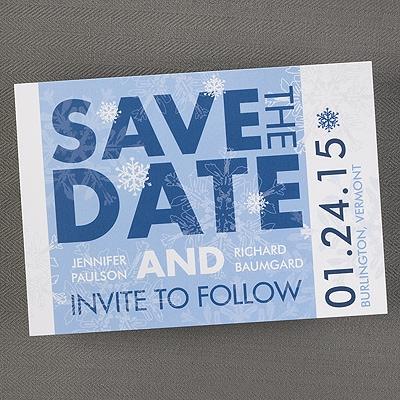 Winter Snowflake - Save the Date Invitation