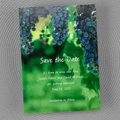 Wine and Dine - Save the Date Card