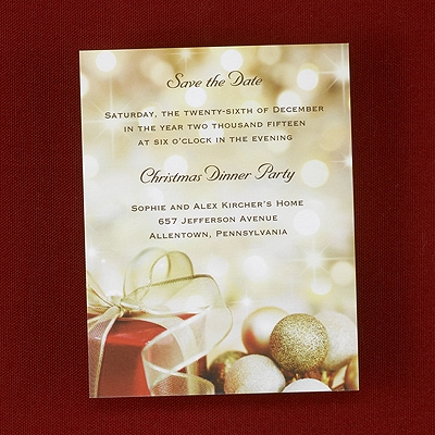 Elegant Holiday - Save the Date Card