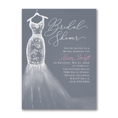 Party Dress - Bridal Shower Invitation