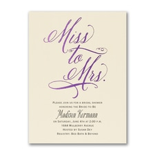 Bridal Shower Invitation: Miss to Mrs.