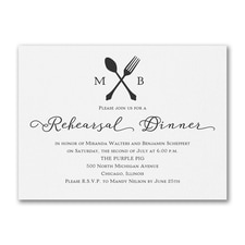 Bridal Shower Invitation: Utensil Temptation