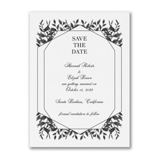 Sophisticated Greenery - Save The Date