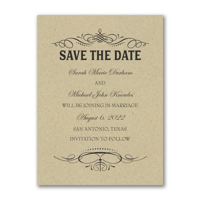 Elegant Day - Save the Date - Kraft