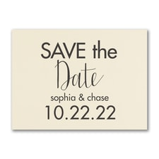 Modern Date - Save the Date - Ecru