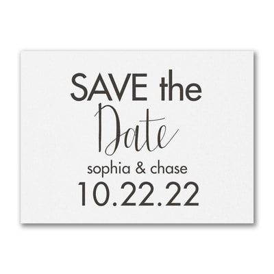 Modern Date - Save the Date - White