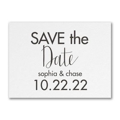 Modern Date - Save the Date - White Shimmer