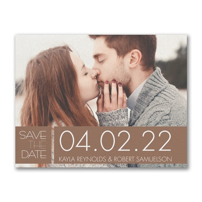Color Block Date - Save the Date