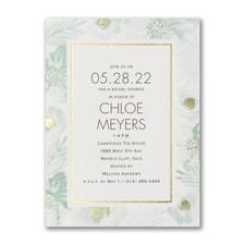Glamorous Garden - Bridal Shower Invitation