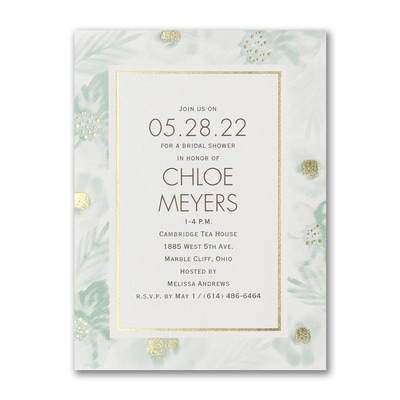 Glamorous Garden - Bridal Shower Invitation