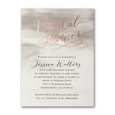 Watercolor Shower - Bridal Shower Invitation