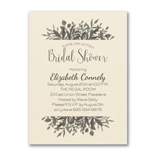 Greenery Shower - Bridal Shower Invitation - Ecru