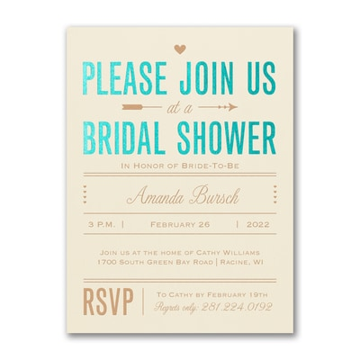 Bridal Love - Bridal Shower Invitation - Ecru