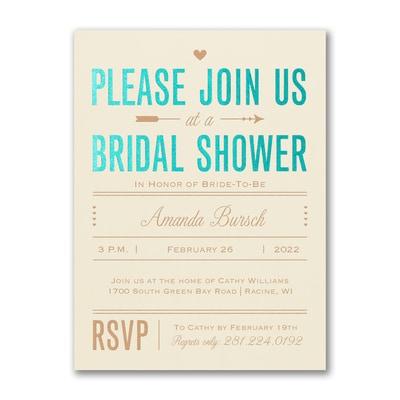 Bridal Love - Bridal Shower Invitation - Ecru
