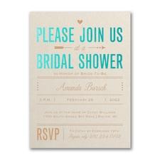 Bridal Love - Bridal Shower Invitation - Ecru Shimmer