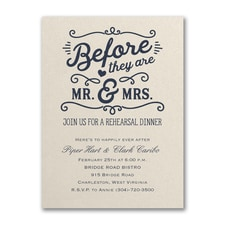 Bridal Shower Invitation: Before Mr. & Mrs.