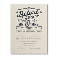 Before Mr. & Mrs. - Bridal Shower Invitation