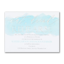 Eat, Drink, Rehearse - Rehearsal Dinner Invitation