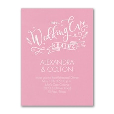 Wedding Eve Bash - Bridal Shower Invitation