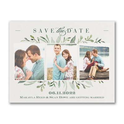 Watercolor Greenery - Save the Date