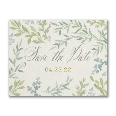 Romance & Greenery - Save the Date Postcard