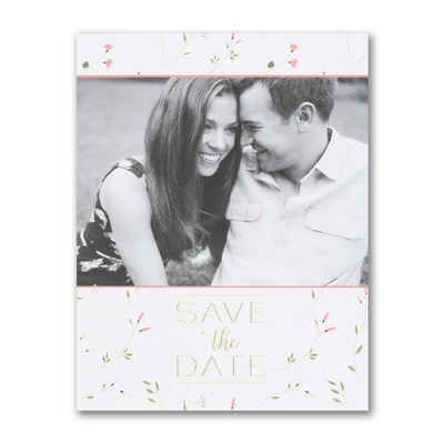 Whimsical Romance - Save the Date Postcard