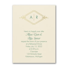 Happy Rehearsal - Rehearsal Dinner Invitation - Ecru