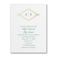 Happy Rehearsal - Rehearsal Dinner Invitation - White Shimmer