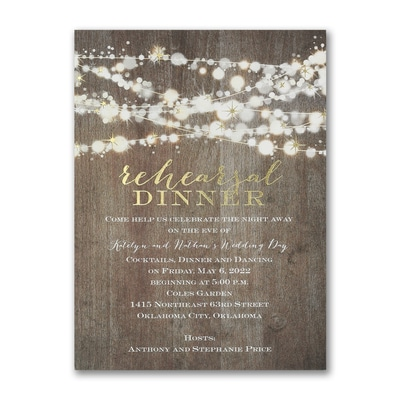 Dinner Enchantment - Rehearsal Dinner Invitation