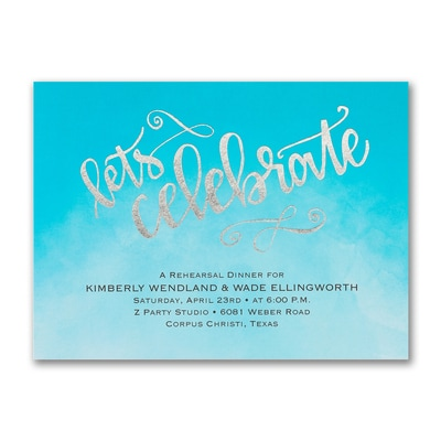 Let's Celebrate - Rehearsal Dinner Invitation