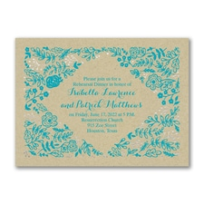 Shining Floral - Bridal Shower Invitation