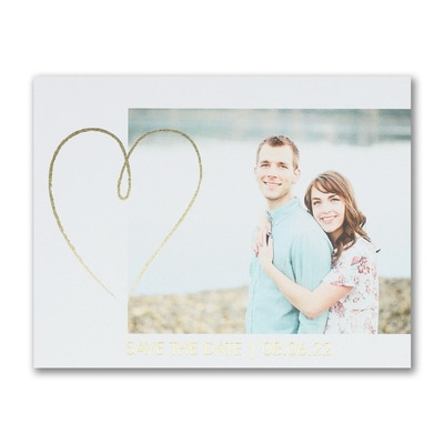 Shining Heart - Save the Date Postcard