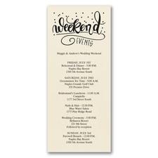Weekend Events - Celebration Card - Ecru