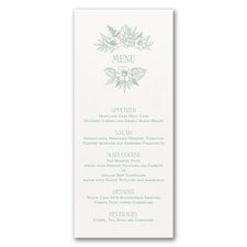 Greenery & Dining - Menu Card - White