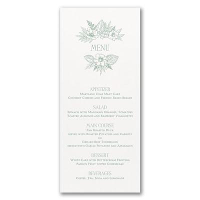 Greenery & Dining - Menu Card - White