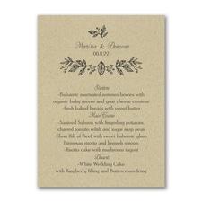 Whimsical Dining - Menu Card - Kraft