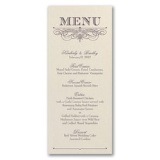 Decorative Menu - Menu Card - Ecru Shimmer